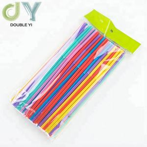 Disposable beverage plastic straw wholesale long drinking straw