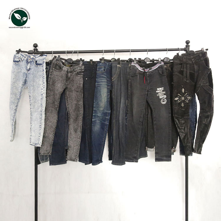Wholesale top quality ladies sorted warehouse jeans used clothing