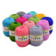 Cotton Silk Knitting Yarn Soft Warm Baby Yarn for Hand Knitting Anti-Bacterial Eco-friendly 50g/pc