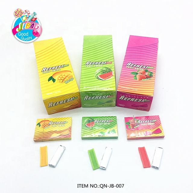 refresh chewing gum new style fruit flavor square bubble gum