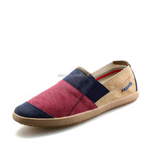Wholesale Men Slip-on Casual Shoes Colorful Flat Canvas Driving Loafers Made in China
