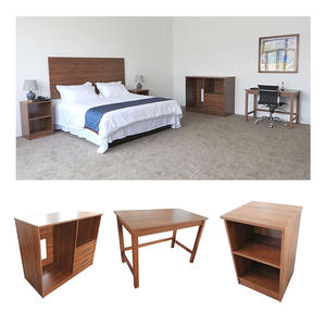 Motel Furniture Queen Guestroom Hotel Wooden Furniture