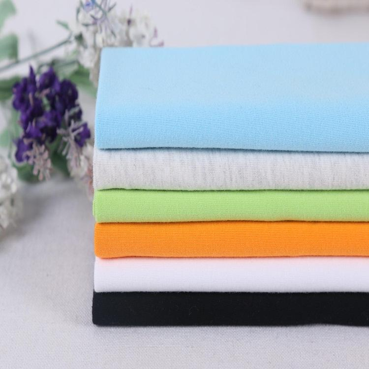 High Quality Plain Dyed 40s 100% Cotton Single Jersey Knit Fabric for Garment