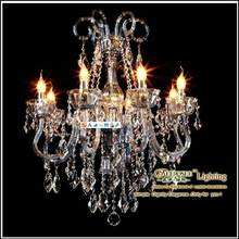 Top Class K9 Maria Theresa Crystal Chandelier, Contemporary Water Blue Chandelier, Candle Light Chandelier