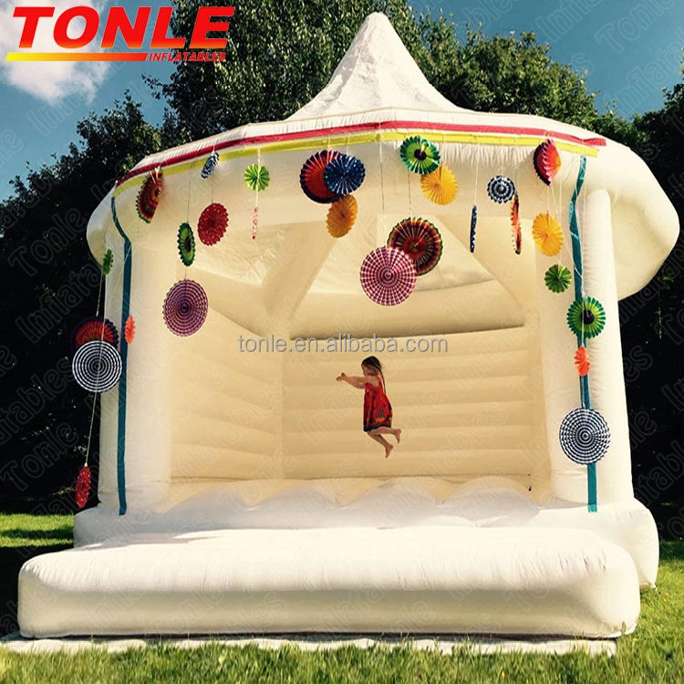 adults kids inflatable white wedding bouncy castle/ bounce house for sale