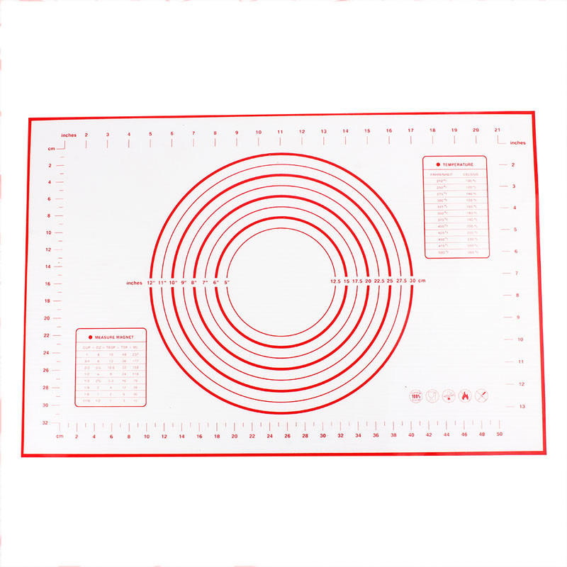 Amazon Top Seller 2020 Kitchen Accessories Chopping Measurements Mat Silicone Baking Mat / Dough Mat / Pastry Mat
