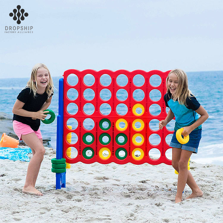 One-Stop Service [ Toy ] DS-TY1001 NEW DESIGN Outdoor Play Toy For Kids Backyard Educational 4 To Score Giant 4 Connect In A Row Game