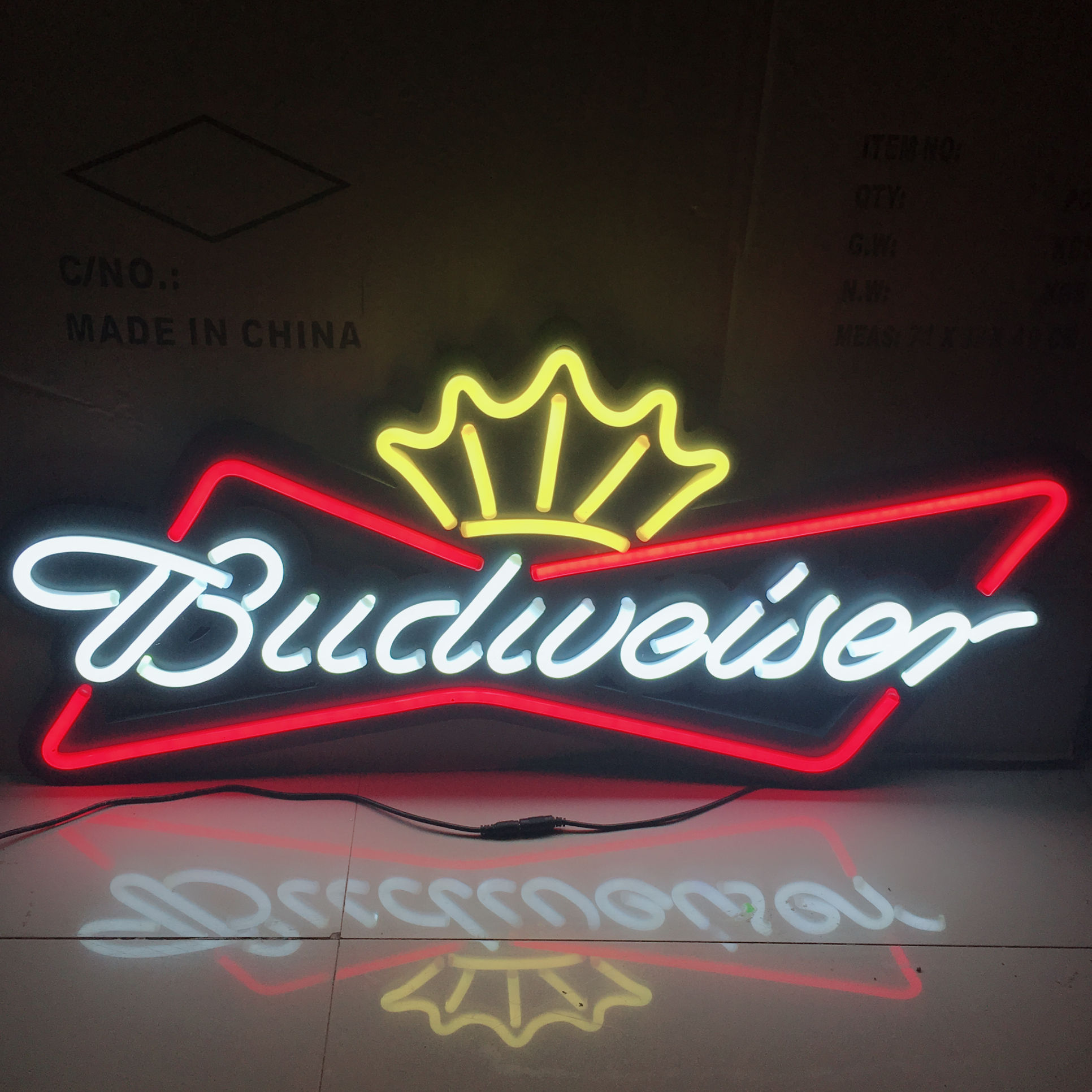 Outdoor acrylic letters plastic sign holder beer neon led sign