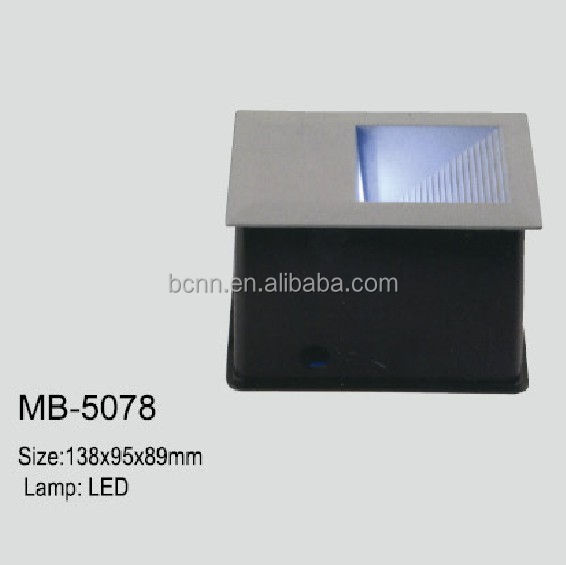 W-MB5078 square led wall lamp IP54 recessed stair step light
