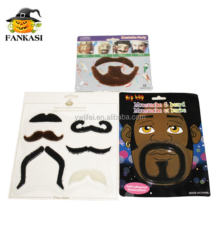 Fake Mustache New Styles Stick on Fake Mustache Self Adhesive Tash Funny Mustac