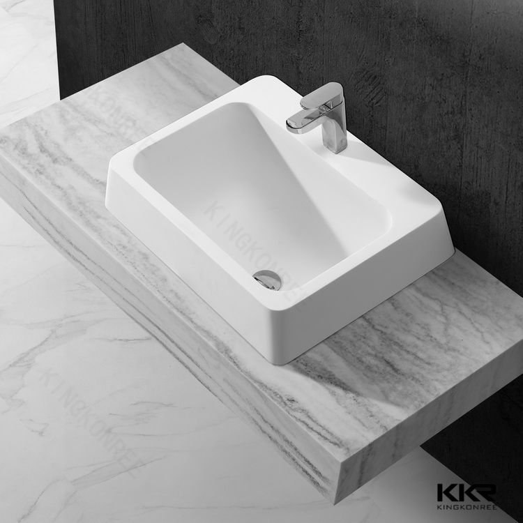 rectangular bathroom face wash basin with stand