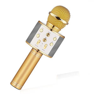ws 858 condenser wireless karaoke bluetooth microphone with Player MIC Speaker Record Music KTV Microfone