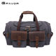 YD-5322 Vintage luxury easy GYM canvas leather Weekend overnight travel tote man duffle bag for men