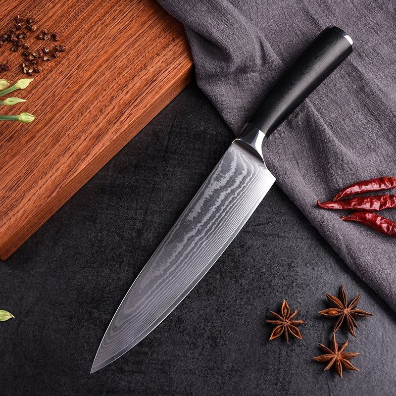 8 pulgadas mejor hecho a mano cocina shun cuchillo chef cocina de acero inoxidable cuchillo afilado