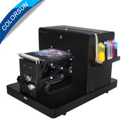Newest A4 size digital flatbed printing machine to print phone case cover/Pen/PVC /CD/T-shirt/Metal