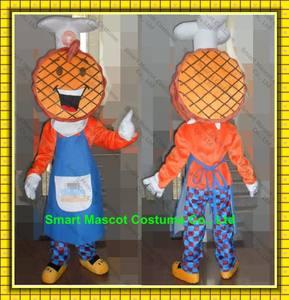 waffel maskottchen kostüm für erwachsene tragen mit guten visuellen erwachsene waffel maskottchen für die förderung Nutzung