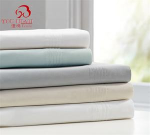 100% Cotton Family Home Bed Sheet Flat Sheet Fitted Sheet