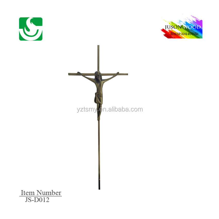 JS-D012 Hot sale qualified cheap coffin zinc cross