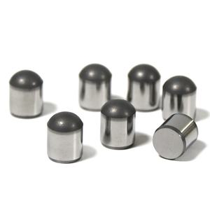Leach Spherical and dome PDC cutters for mining drill bits and oil well drilling tool