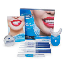 Brighter White teeth whitening kit with led light and gels private label