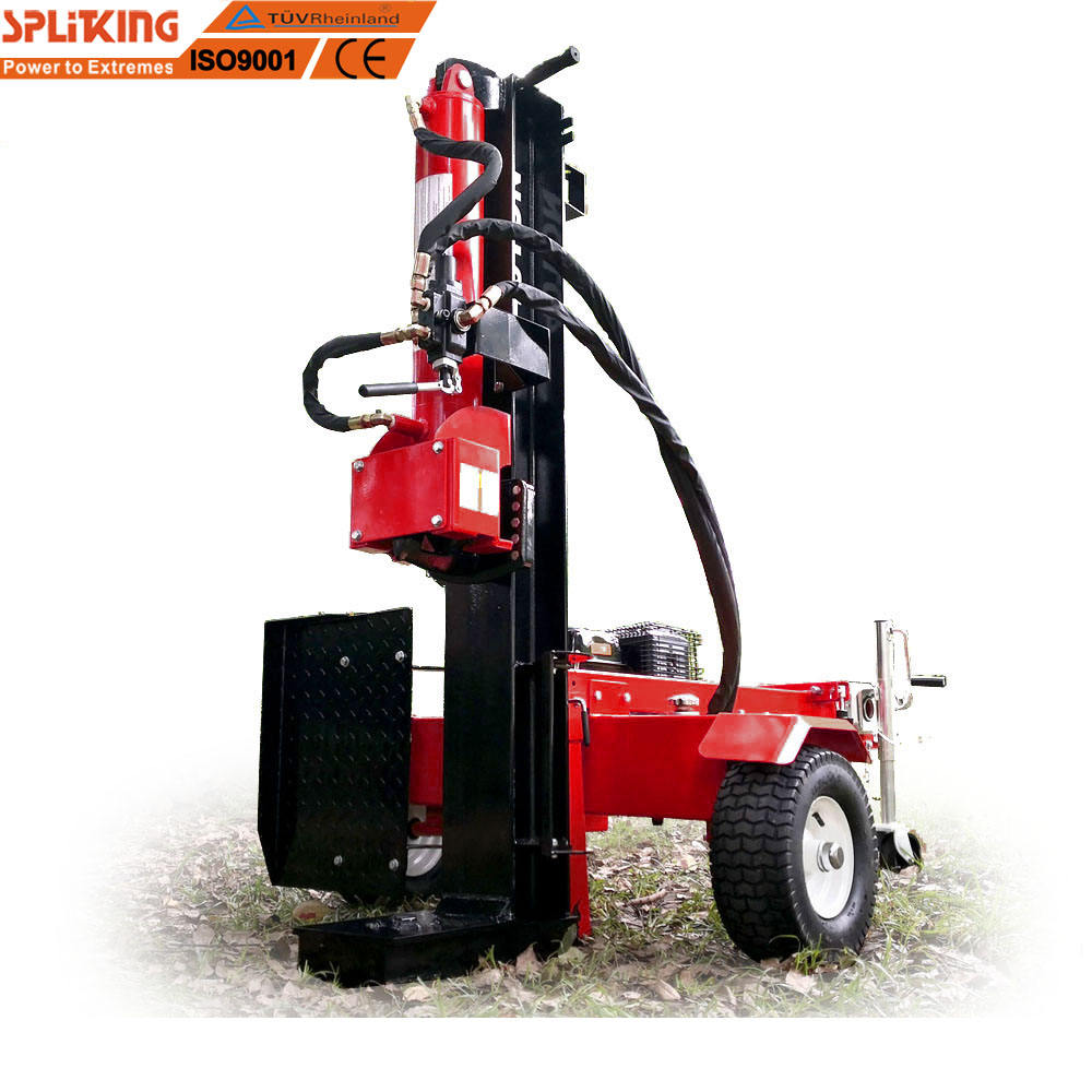 50 Ton Gasoline Engine Powerful petrol hydraulic wood splitter with Vertical and Horizontal firewood Log Splitter wedge