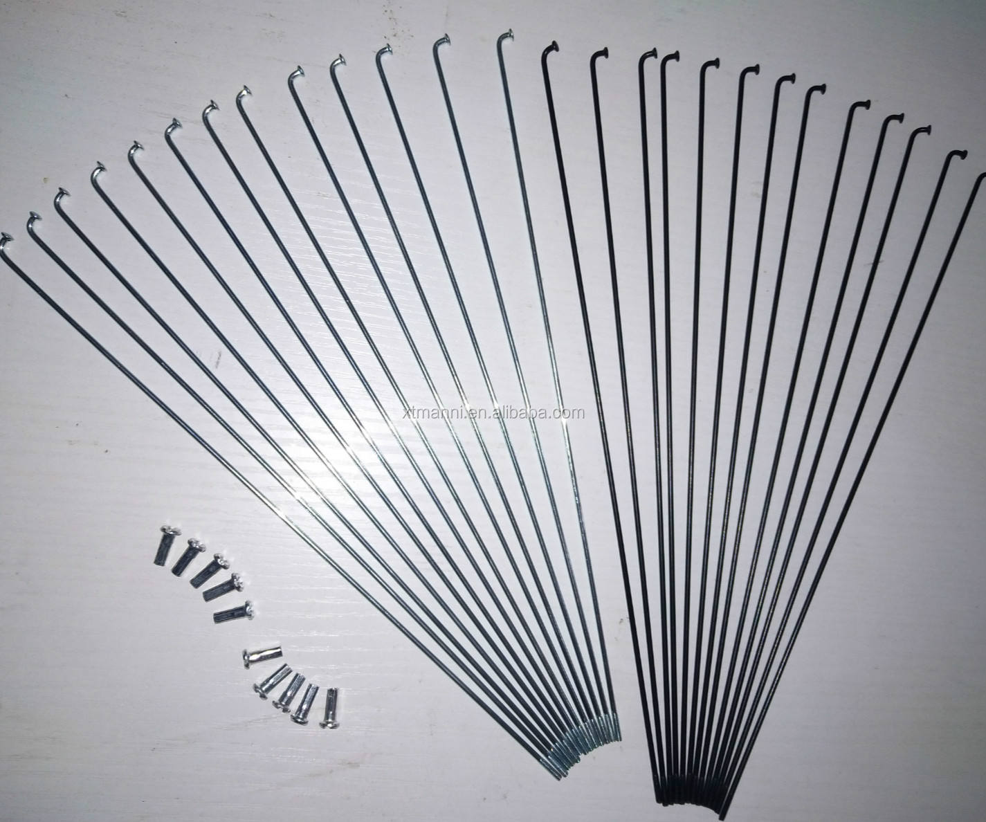 CHOOSE YOUR LENGTH Bicycle Spokes /& Nipples BLACK 14G Stainless Steel