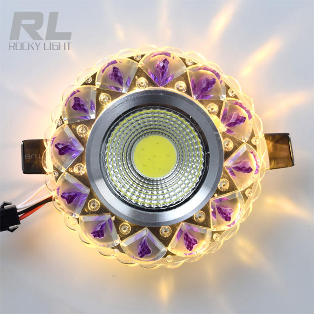 5W Modern Crystal Colorful LED Ceiling Light Lamp Living room Porch Lighting