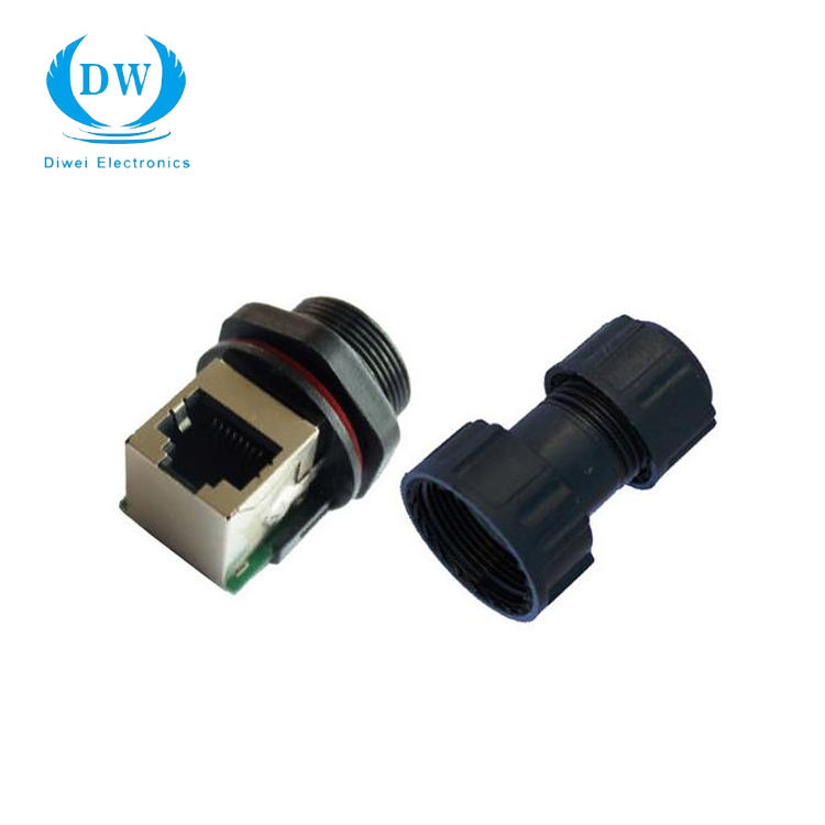 Impermeable ethernet RJ-45 conector impermeable conector de cable lan rj45 conector modular