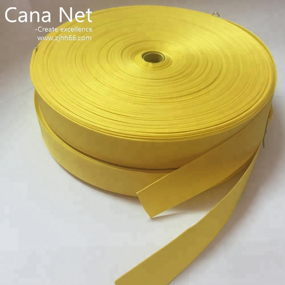 Custom made 25mm polyester webbing yellow color