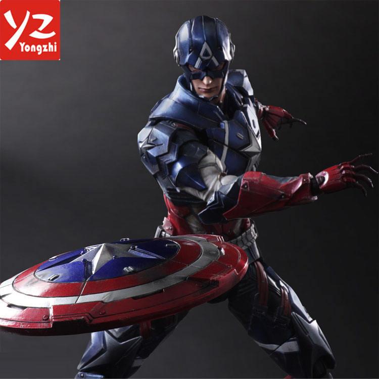 Jugar artes Kai <span class=keywords><strong>Marvel</strong></span> Titan serie del héroe Capitán América 28 cm juguete <span class=keywords><strong>figura</strong></span> de acción