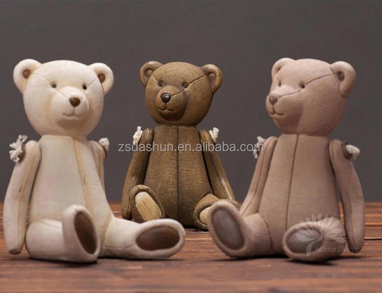 Fontes do ofício atacado teddy bear resina artesanato popular