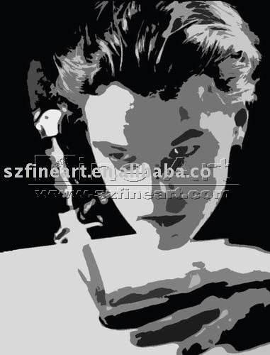 Leonardo DiCaprio pittura poster