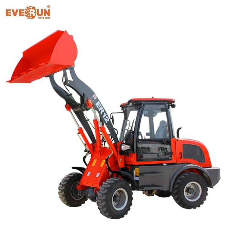 Everun Brand CE Approved Mini 1.2ton Compact Loader With Euro III Engine