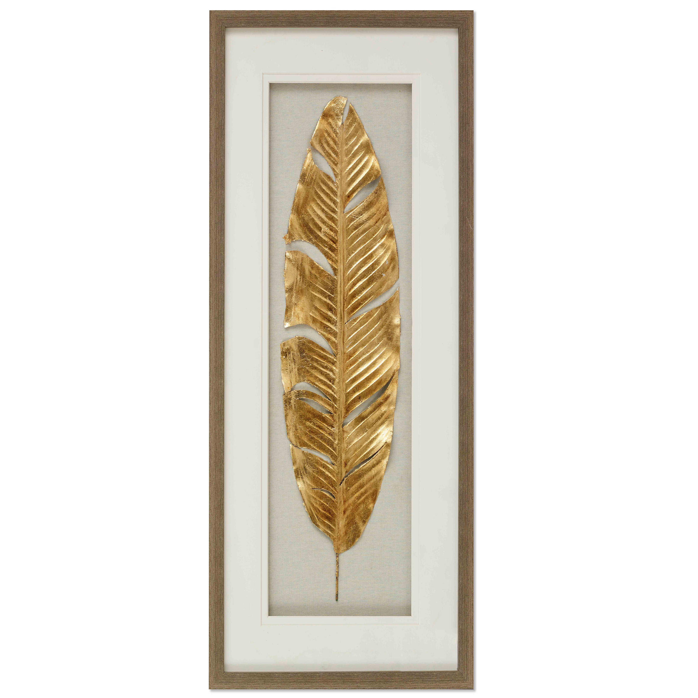 Modern Gold Leaf Design Shadow Box Wall Art for home hotel decoration