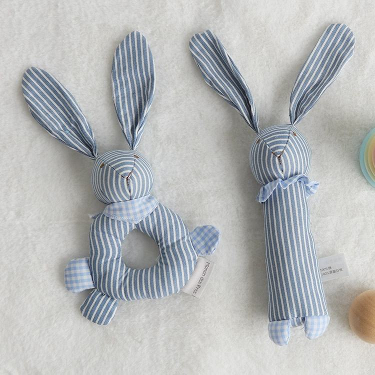 Dier hand <span class=keywords><strong>bell</strong></span> leuke bunny <span class=keywords><strong>baby</strong></span> rammelaars zuigeling pluche ringen peuter speelgoed
