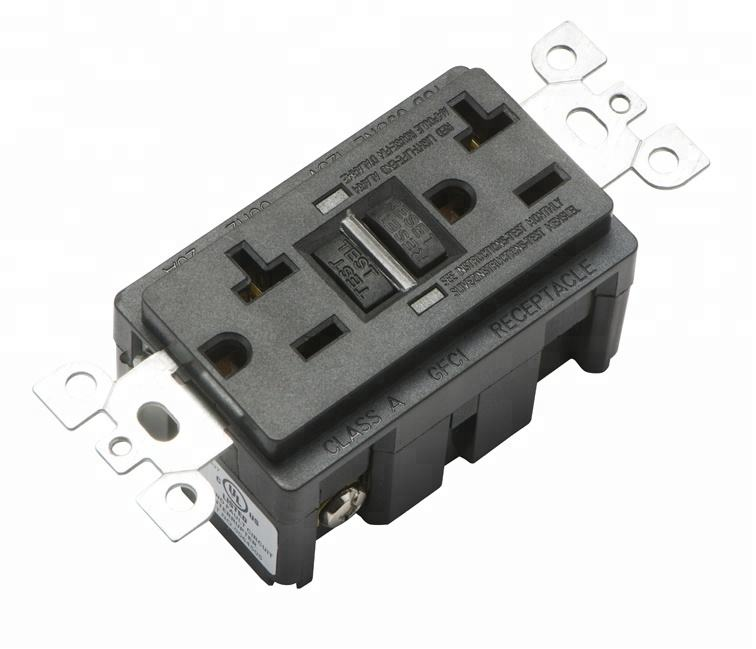 GFCI Outlet 120V 20Amp Receptacle with Test and Reset Surge Protection with weather Resistant