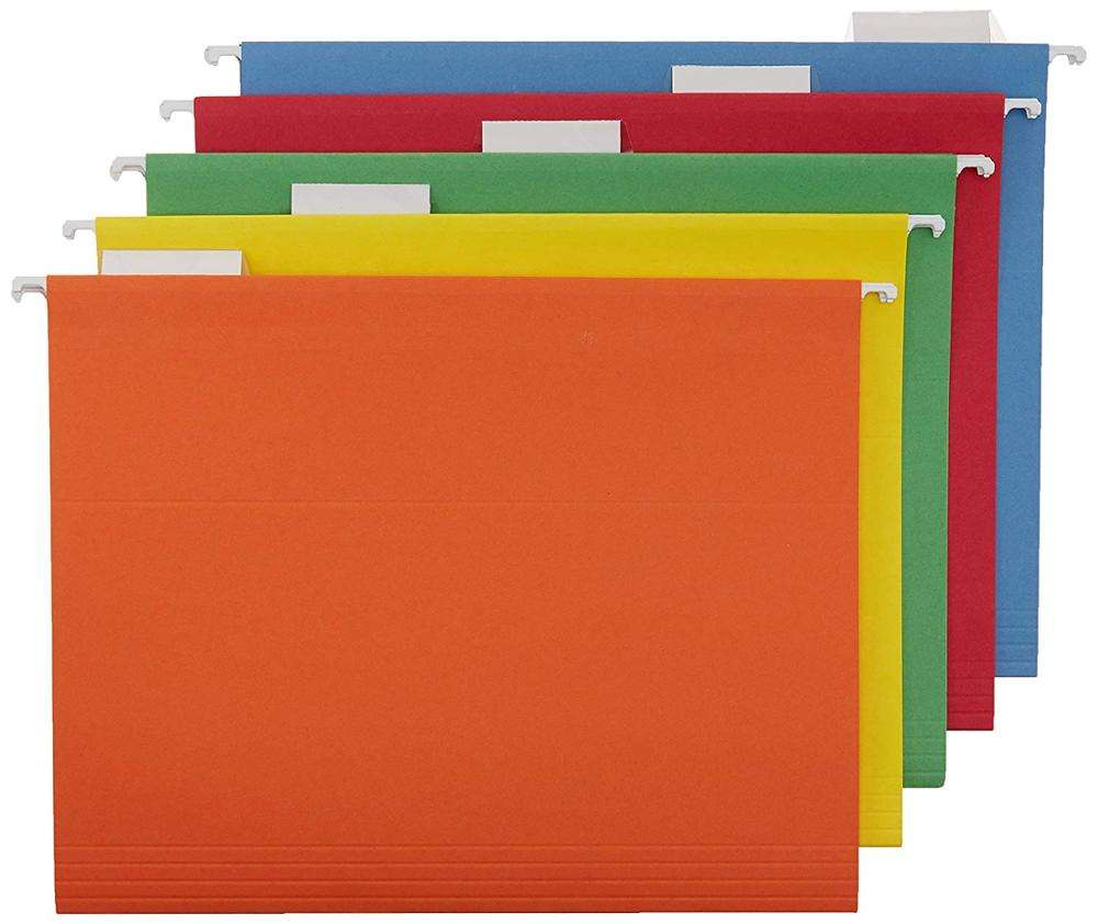 2020 a4 fc size plastic colored hanging file folder with clips
