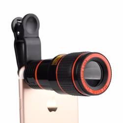 Universal Clip-on phone camera lens 8x zoom mobile camera lens