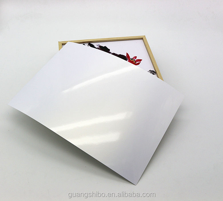 Metallic resin coated glossy surface photo paper