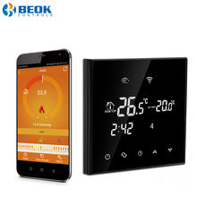 Black WiFi Touch Screen Combi Gas Heating Boiler Room Thermostats