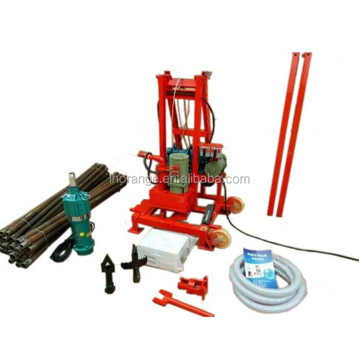 80m Deep Portable Small Water Well Bore Hole Well Drilling Machine For Sale