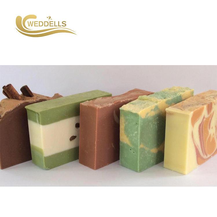 Wholesale factory natural organic handmade colorful square shape bath soap