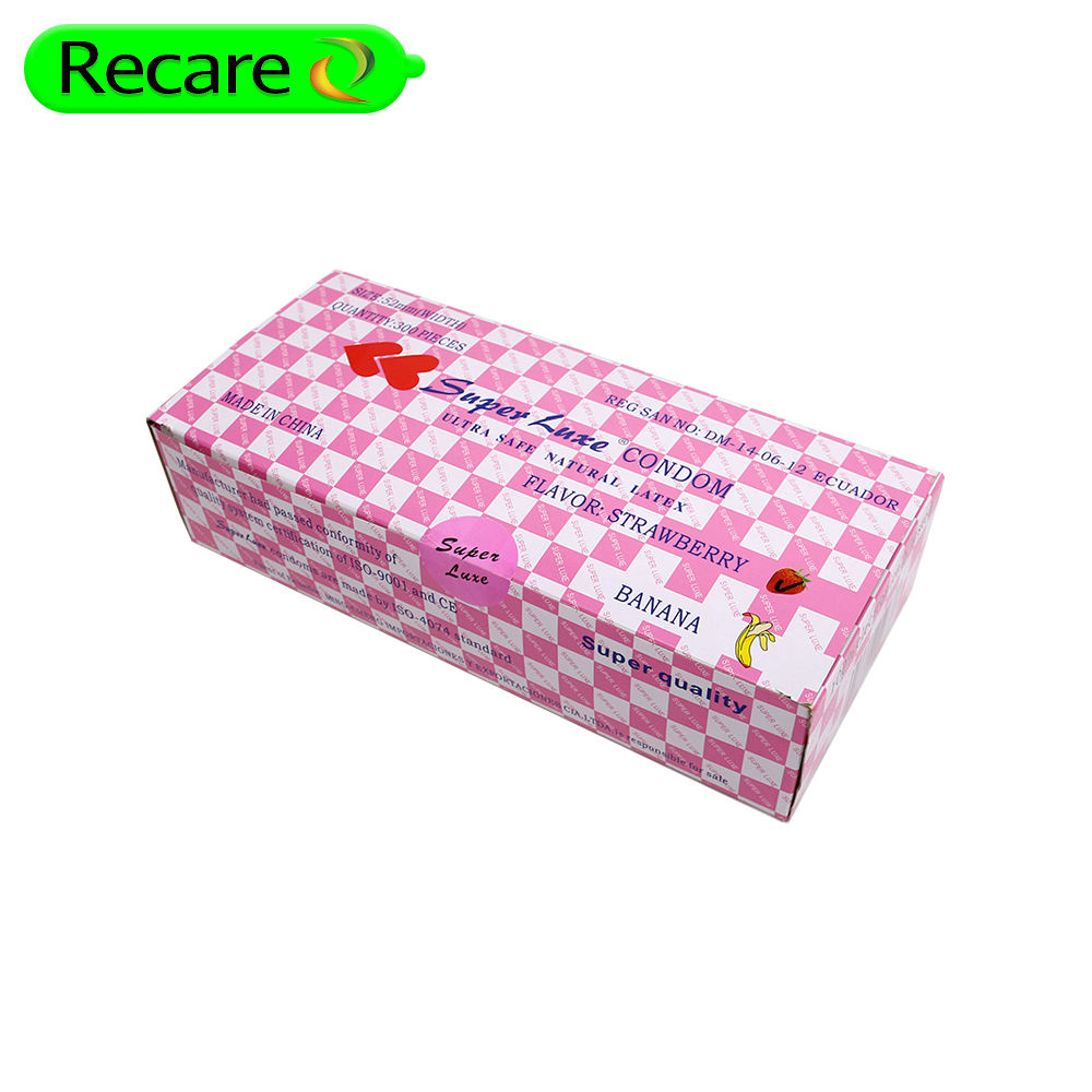 tin box gift packaging red colour promotional condom