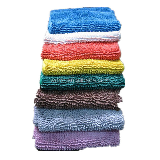 100% Polyester Chenille Shaggy carpet fabric in Rolls for rug,mat,mop or Car Washing Glove
