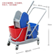 HQ2334 60L two mop bucket with wringer cleaning wringer mop cart