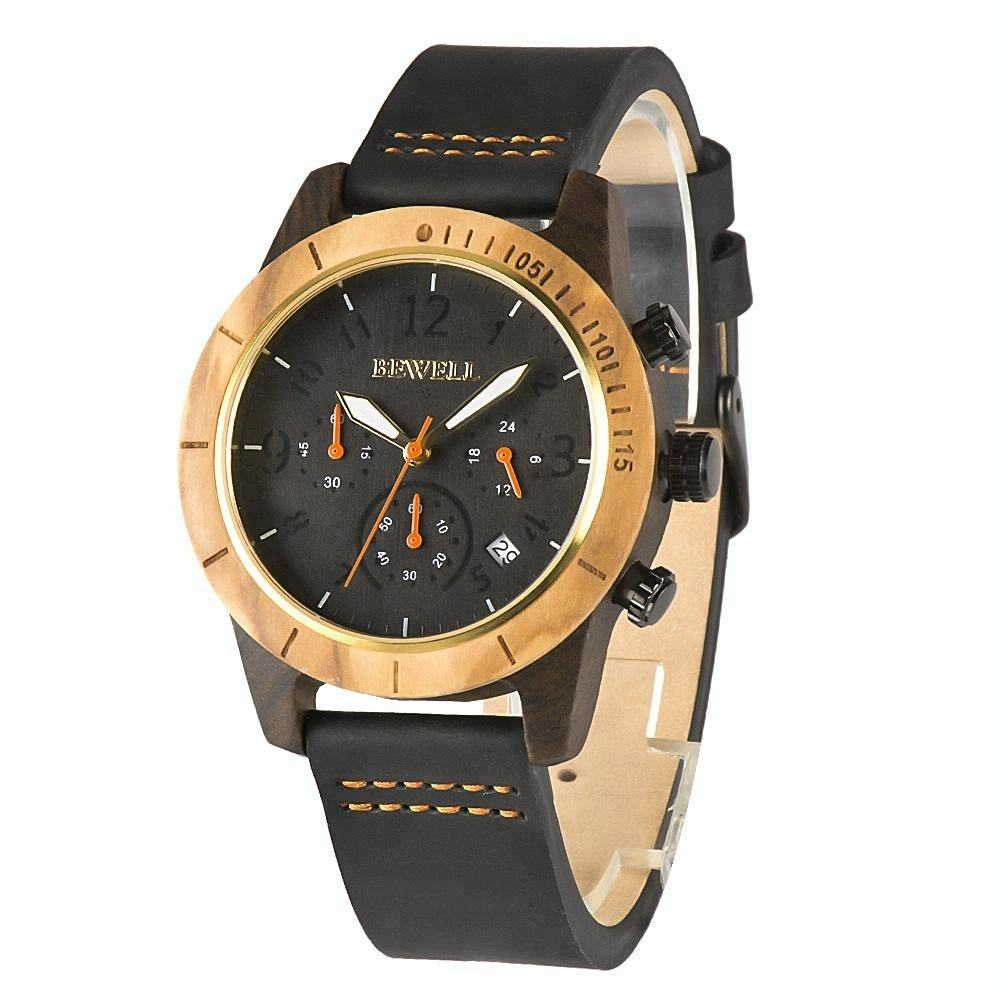 Quartz watch stainless steel back executive wrist watches men