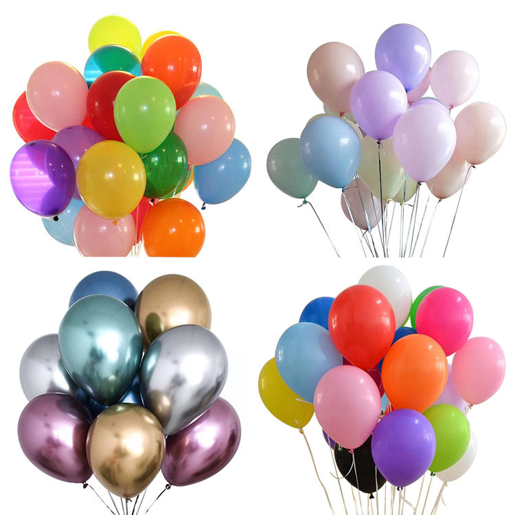 Chrome Balloons [Factory] [OEM Amazon Supply]12'' 100% Latex Balloon Standard Pastel Chrome Metallic Color Plain Latex Balloons