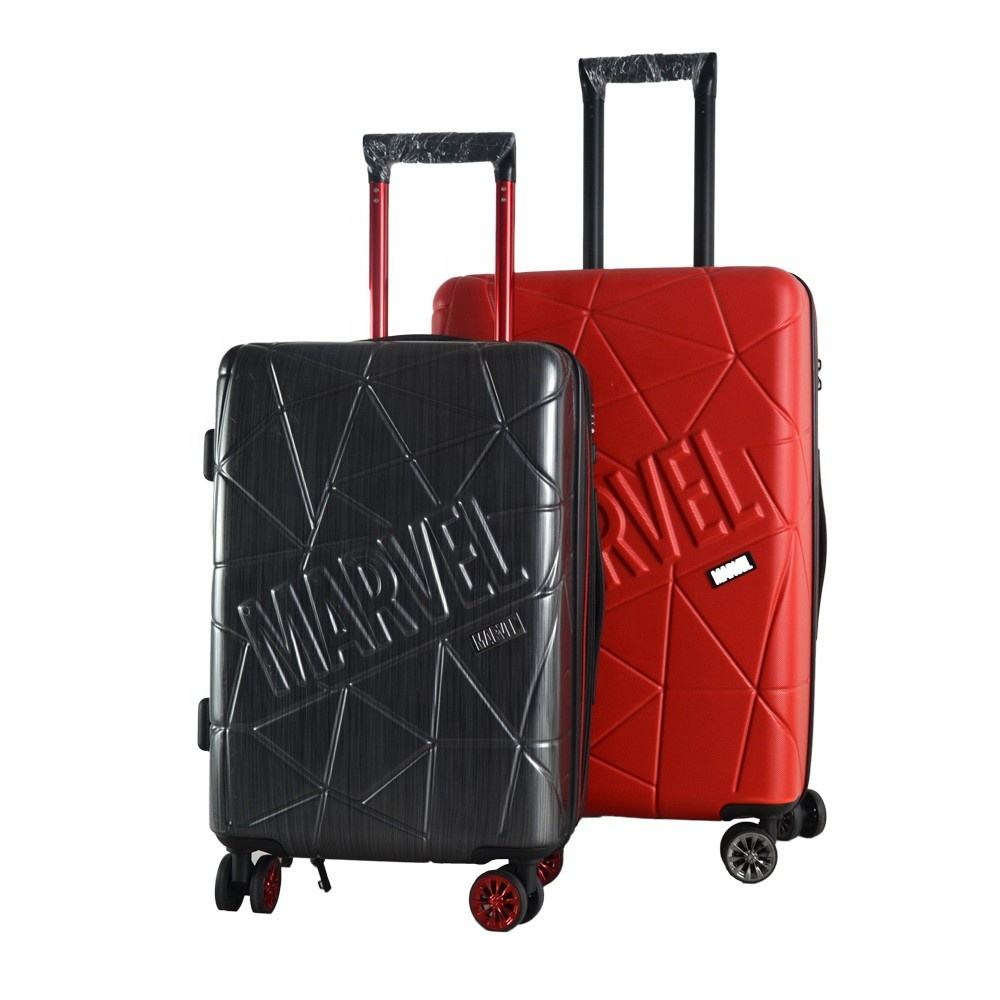 2018 modieuze 2 stuks Lugagge Sets ABS + PC Film Trolley Bagage