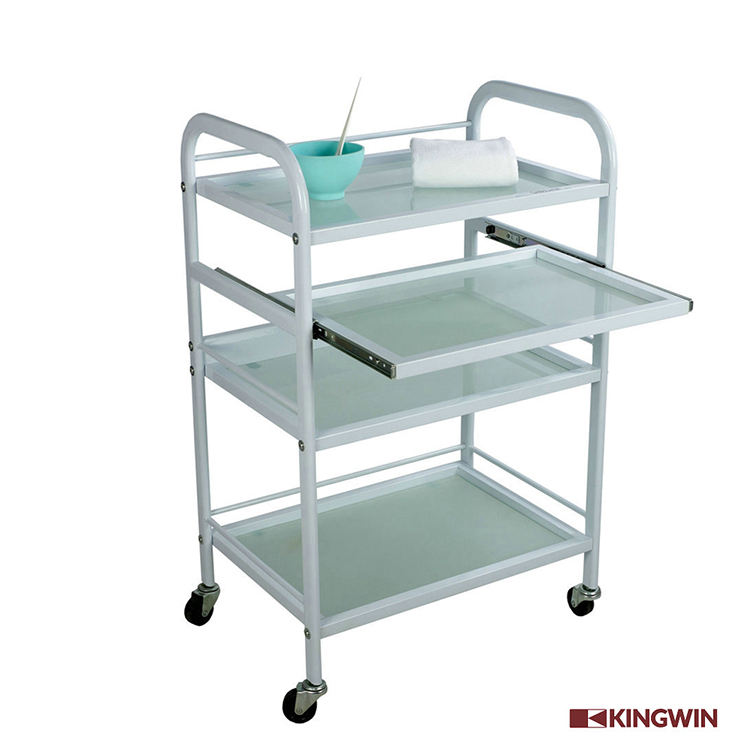 Kingwin Solid Metal Facial Beauty hair salon hairdressing trolley cart