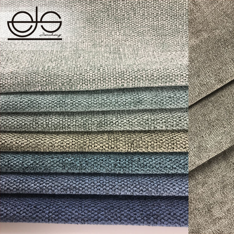 JES 350 GSM 100% Polyester Linen Look Furniture Upholstery Jute Sofa Fabric